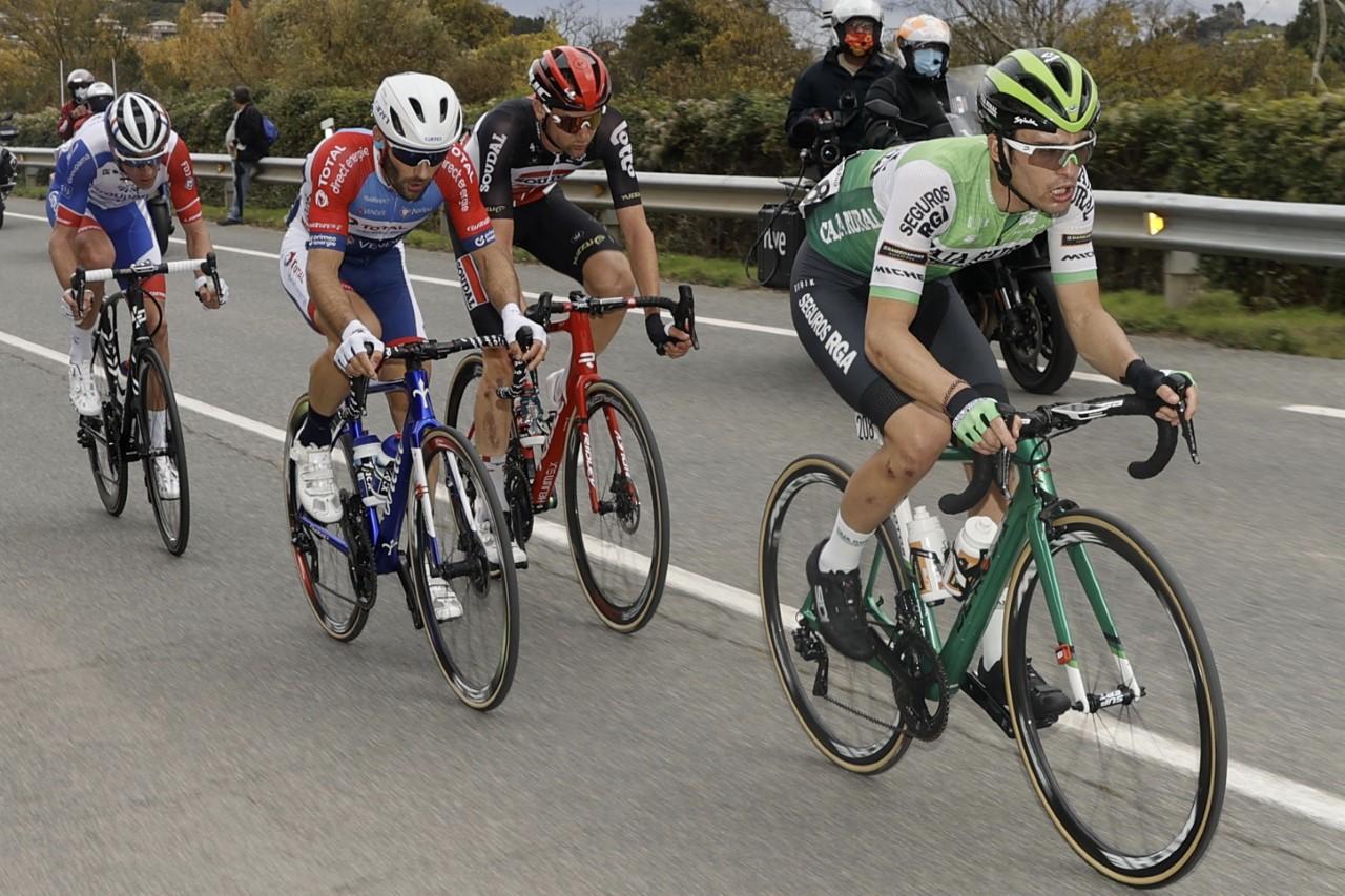 Premio de lacombatividad para Gonzalo Serrano en la llegada de La Vuelta a Navarra
