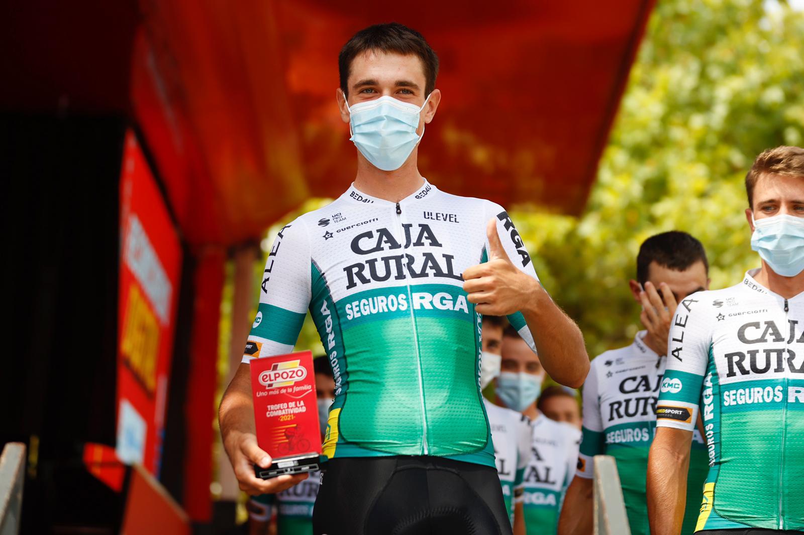 Oier Lazkano ya conoce el podio de La Vuelta