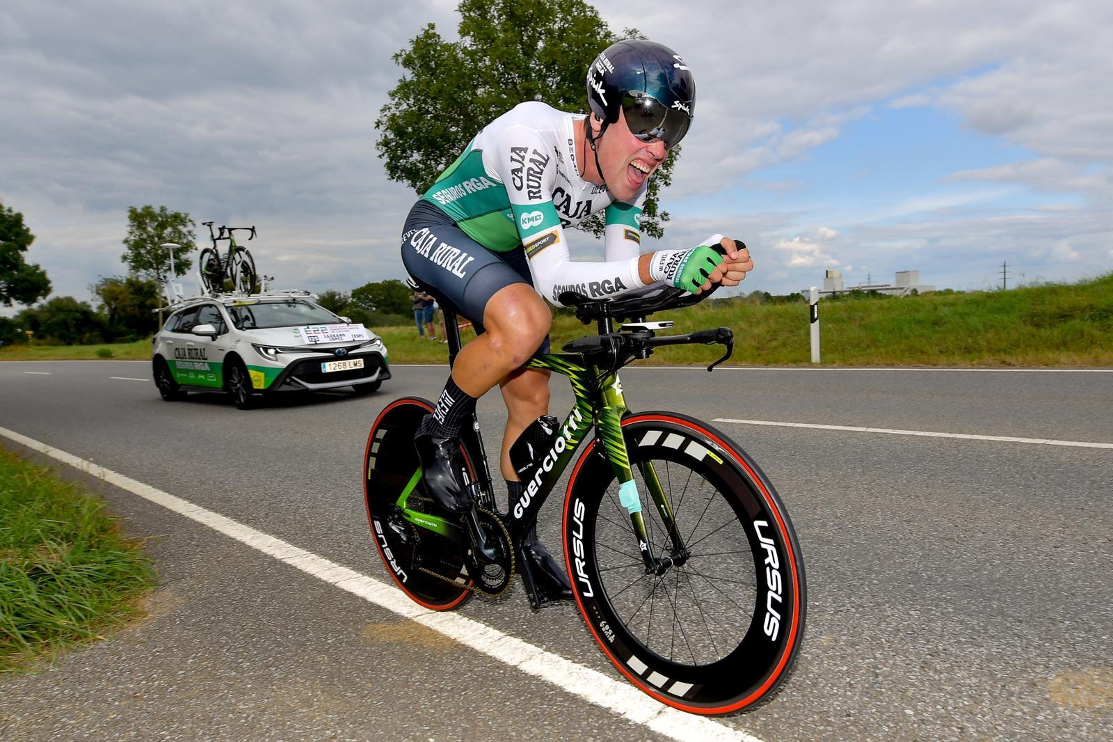 Oier Lazkano destaca un día más en el cierre del Tour de Luxemburgo